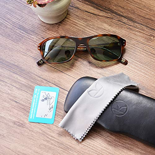 LKVNHP Neue Hochwertige Kingsman Vintage Retro Übergroße Sonnenbrille Männer Markendesigner Polarisierte Quadratische Sonnenbrille Uv400Schwarz Grün