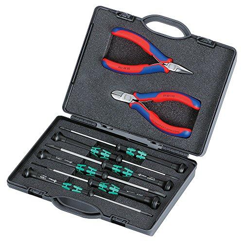 KNIPEX 00 20 18 Elektronikzangen-Set für Arbeiten an elektronischen Bauteilen