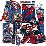 Spiderman 20 Teile Set Schulranzen RANZEN Schulrucksack FEDERMAPPE Tasche Schultüte 85 cm mit Sticker von Kids4shop