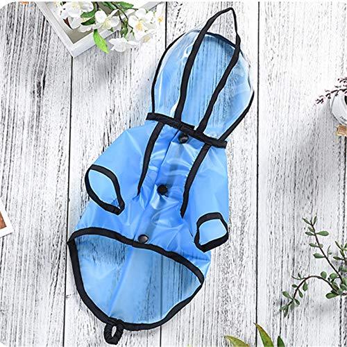 für Hunde Haustier Hund Regenmantel wasserdichte Kleidung für Hund Regen Jacke Pudel Bichon Schnauzer Mops Französische Bulldogge Kleidung Haustier Outfit Kostüm @ 2XL ()