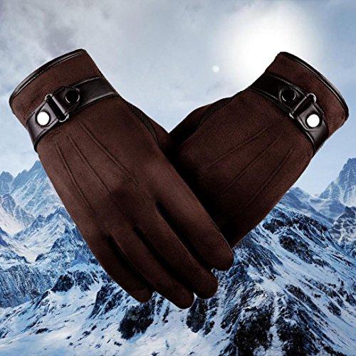 Saingace Anti-dérapant Hommes Toucher écran Chaud Gants Moto Ski de Snowboard Café