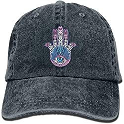 Funny Caps Buddha Hamsa Baseball Caps Kawaii Available Visor Hats for Teen Girls