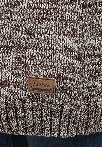DESIRES Philicita Damen Strickpullover Grobstrick mit Stehkragen aus 100% Baumwolle Meliert Coffee Bean (5973)