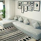 TT&CC Elastische Sofa Deckt,All-Inclusive-Vier Jahreszeiten Universal Schlichten und Modernen Stoff Slipcover Weichen Stoff Langlebige Volltonfarbe Pet Sofa Abdecken-A 4 Sitzer 235~300cm(93~118inch)