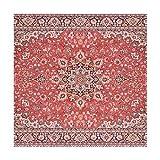 XiangHeFu Tischsets Art persisches Muster, 30,5 x 30,5 cm, einteilig, hitzebeständig, Rutschfest für Esstisch, Polyester-Mischgewebe, Image 202, 12x12x4(in)