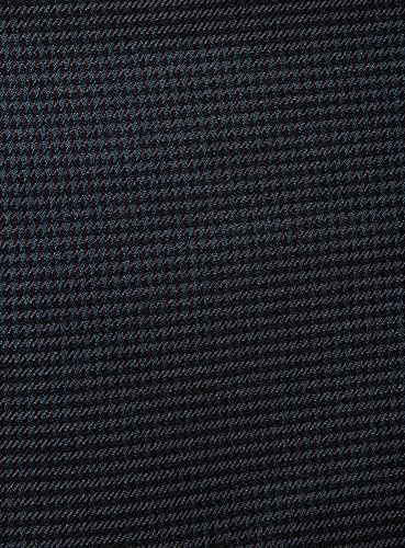 oodji Ultra Damen Kurzer Trapezrock mit Kariertem Muster Grün (6D49G)