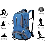 Mountaineering Hiking Backpack Trekking Bag Outdoor Sports Daypack 40L Waterproof for Camping Fishing Backpacking...