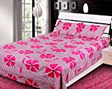 100% Cotton Printed Double Bed-Sheet wit...
