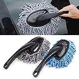 Cepillo de microfibra para limpiar el polvo del coche, para limpieza del hogar gris