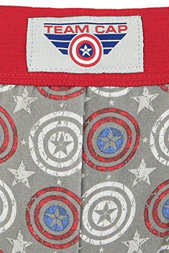 Captain America Logo - Allover Boxer grigio/rosso Grigio/Rosso