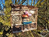 Large Hanging Nesting Box Hotel with Feeder and...