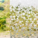 D : Self Adhesive Window Privacy Film 45*100Cm, Mumustar Home Bathroom Glass Window Stickers Trim Floral Dandelion Pattern Privacy Shading (D)
