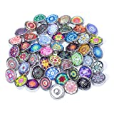Soleebee Glas Aluminium 12mm Click Button Schmuck Charms Set 30