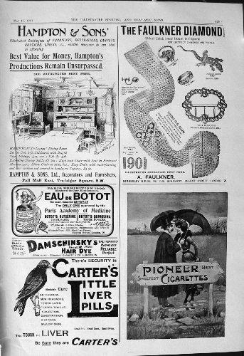 Pillole 1901 di Hampton Carter Pionieristico del Diamante di Faulkner delle Sigarette della