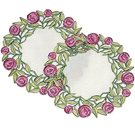 in a Rennie Mack Pink Rose Design Justina Claire Table Runner Large