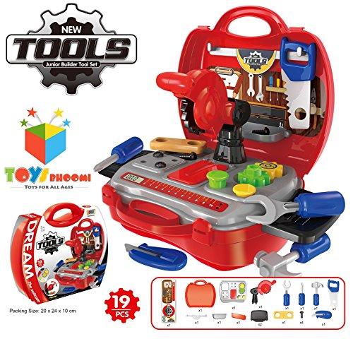 Toys Bhoomi Kids Bring Along Junior Builder Tools Suitcase - 19pcs Set