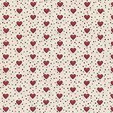 Tessuto stampato - Cuori d'Amore - rosso e grigio medio su uno sfondo crema | 100% puro cotone | altezza: 160 cm (per metro lineare)*