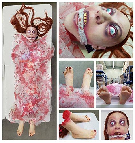 Horror Leiche Torso Halloween Splatter Deko Frauenkopf, Füße und (Halloween Leichenteile)