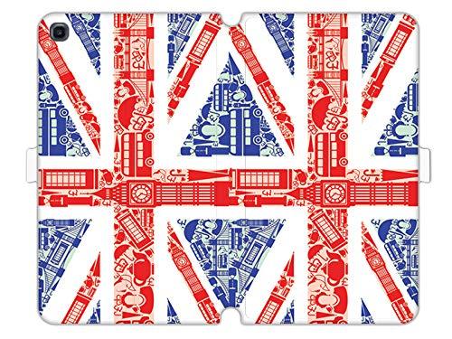 Hülle für Samsung Galaxy Tab A 10.1 (2019) - Hülle Wallet Book Fantastic - Britische Flagge Handyhülle Schutzhülle Etui Case Cover Tasche für Handy Flagge Cover