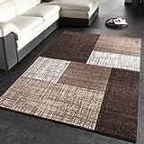 Modern Designer Carpet / Short-Pile Carpet / With Colour Gradient / Brown Cream, Size:160x230 cm