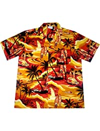 "Chemise Hawaienne Homme ""Golden Summer"" 100% coton, taille M – 3XL, jaune"