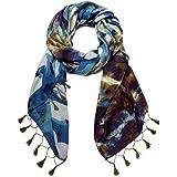 Desigual Foul Camu Sciarpa di moda, Blue, U Donna