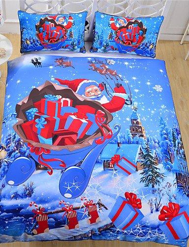 ZHUAN GAOHAIFQ®, vierteilige Anzug,Direktvertrieb Blaue Bettwäsche Jahr Bettwäsche Reaktivdruck Bettwäsche Bettwäsche Doppel volle Königin, Full (Voll Wars Star Bettwäsche)
