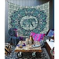 Kesrie eticamente fatto a mano stampato mandala Wall Hanging Boemia stile hippie arazzo grande elefante psichedelico modello
