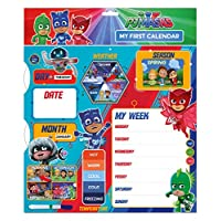 Danilo PJ Masks My First Activity Calendar Educational Toy Special Edition - Teach Your Child Days Months Weather and Seasons - Starts Any Date - With Wall Hanging Hook
