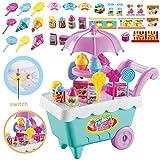 Set da 19 pezzi per bambini, caramelle, trolley, carrelli per gelato, musica elettrica, giocattoli, giocattoli fai da te