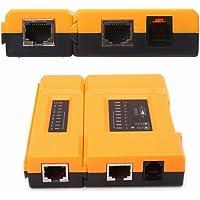 rts RJ45 and RJ11 RJ12 Network Cable Tester LAN Cable Tester, Multi-Functional LED Networking Tool Tester RJ45 RJ11 RJ12…