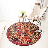 Nouveau tapis roulant en forme de Longfeng chinois, panier suspendu, meuble rétro pivotant pour ordinateur ( Couleur : Rouge , taille : 120cm )...