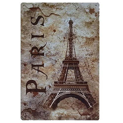 Placas Decorativas Vintage metalicas Paris. Carteles