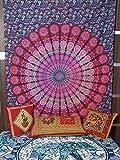 kesrie main imprimé Mandala mur tapisserie Chakra Vishuddha associées aux Ether/Akash Element pour TRUST et la créativité