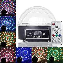 PMS® Disco LED Bola Luz Iluminación RGB Efecto DJ Foco Discoteca con Mando a Distancia