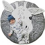 Tapis de Jeu Bébé Rond Tapis d'enfant, doux Couverture de bébé Tapis de Chambre Enfant...