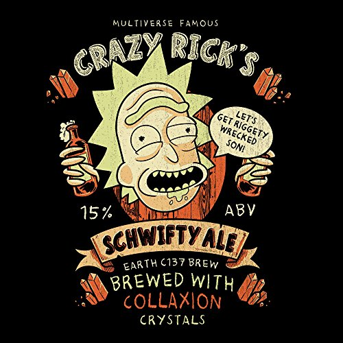 Crazy Ricks Schwifty Ale Rick And Morty Men's T-Shirt Black