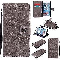 iPhone 6 Plus / iPhone 6S Plus Case, Dfly Premium Soft PU Leather Embossed Mandala Design Kickstand Card Holder Slot Slim Flip Protective Wallet Cover for iPhone 6 Plus / 6S Plus 5.5