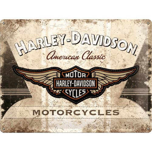Nostalgic Art 23144 - Targa in metallo, da appendere, soggetto: Harley-Davidson American Classic, 30 x 40 cm