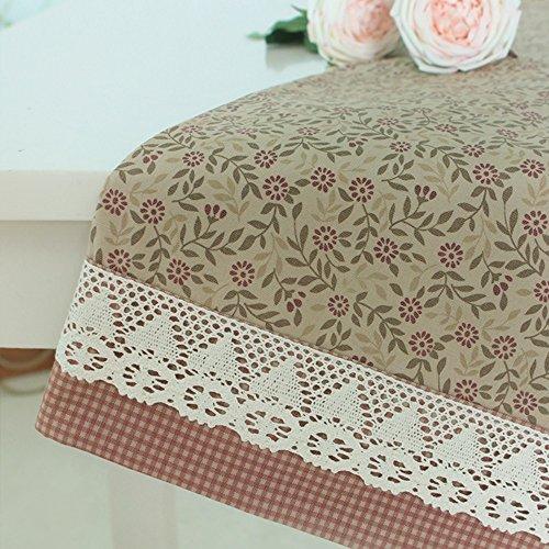 Imperméable nappe Toile en tissu en treillis moderne Toile en dentelle florale Toile en carré carré carré carré (2 couleurs en option) (taille facultative) pour dîner