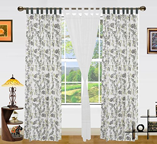 Dekor World Owl Printed Cotton Loop Curtain Set (Pack of 3)