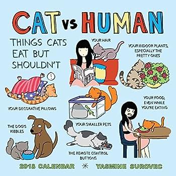 Cat Vs Human 2018 Calendar: Things Cats Eat but Shouldn't