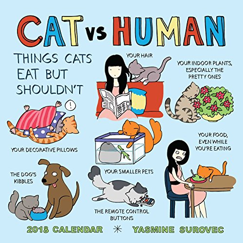 Cat vs. Human 2018 Wall Calendar