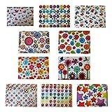 10 Designs, jeweils 2 Stück, Vielzahl Design Button Geldbeutel A4+. 20 Geldbeutel insgesamt