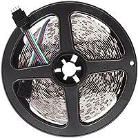 TOOGOO (R) Luz Tira Flexible 300 LED 5050 SMD RGB 5M DC 12V Mini Controlador