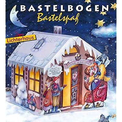 Lichterhaus Hänsel und Gretel Bastelbogen: Hexenhaus zum Ausschneiden und Leuchten