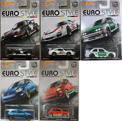 Hot Wheels Car Culture Euro Style Set of 5 by Hot Wheels