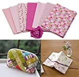 B : Malloom 7 Pcs Cotton Patchwork Quilt Series Fabric Floral Charms Quarters Bundle Sewing, 50 x 40cm (B)
