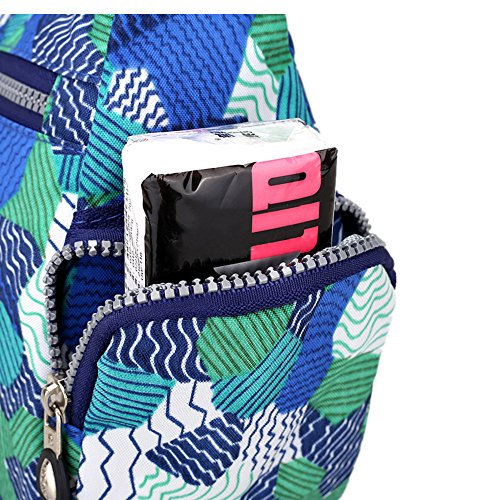Crossbody Handtaschen Casual Schultertaschen für Frauen Wasserdichte Nylon Messenger Bags Blauer Pilz