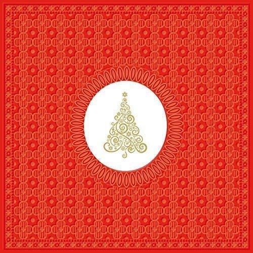 Tourbillon Sapin de Noël rouge doré paquet de 20 Serviettes en Papier Serviettes 13 \